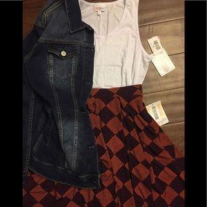 LuLaRoe Madison skirt, XS